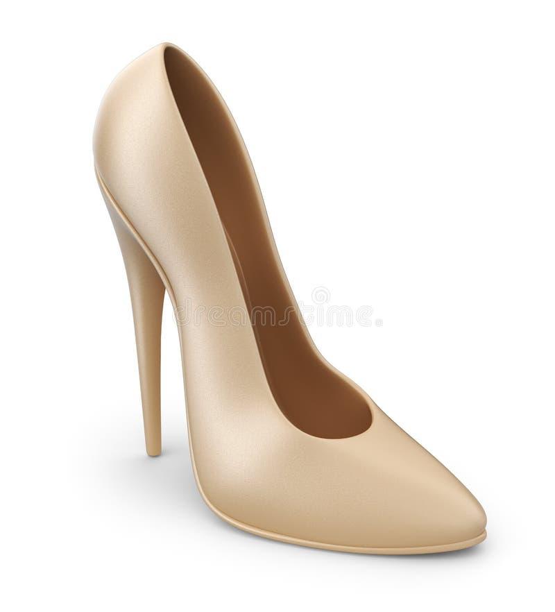 Skor för hög häl. symbol 3D  stock illustrationer