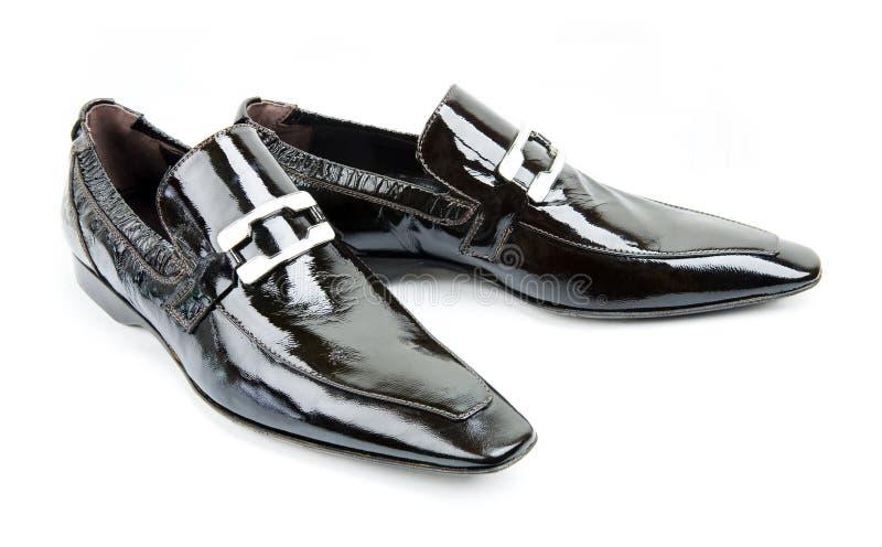 skor för svart manpar s arkivbild