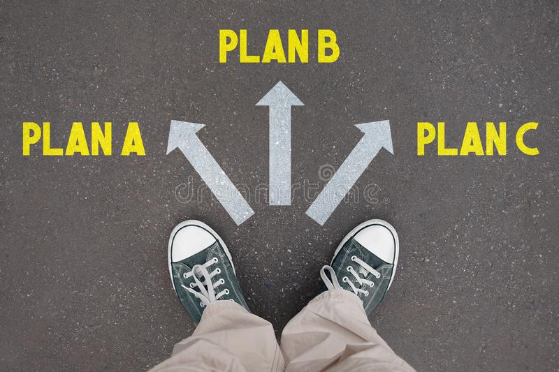 Skor instruktörer - plan A, plan B, plan C vektor illustrationer