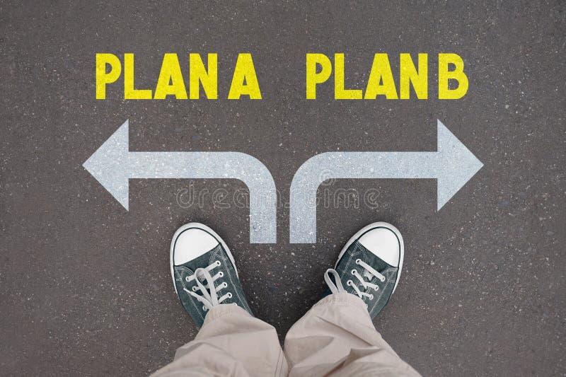 Skor instruktörer - plan A, plan B vektor illustrationer