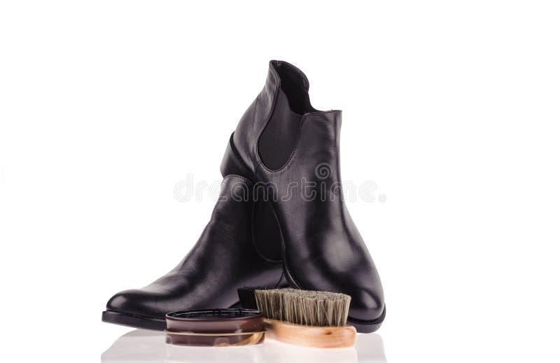 skor och vax arkivbild