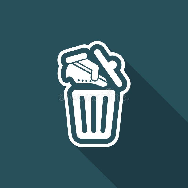 Skor på avfallfack stock illustrationer