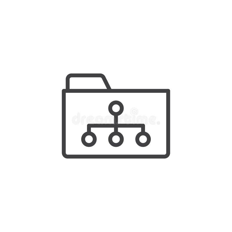 Skoroszytowa archiwum struktury linii ikona ilustracji