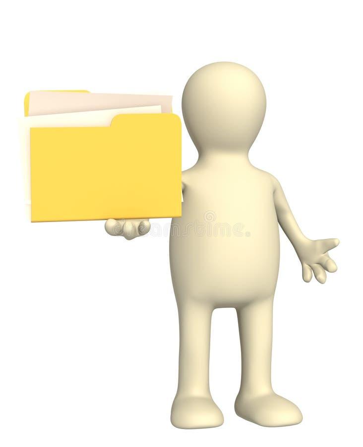 Download Skoroszytowa kukła zdjęcie stock. Obraz złożonej z biały - 13330928