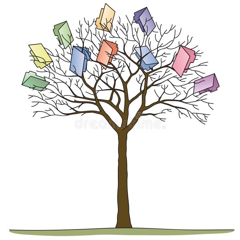 Skoroszytowy drzewo ilustracja wektor