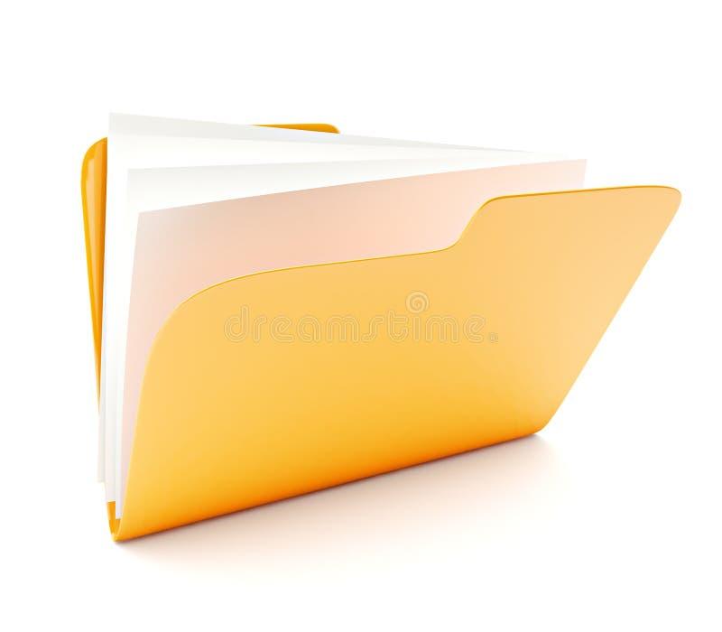 skoroszytowy kolor żółty ilustracji
