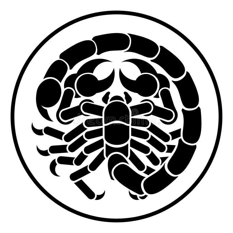 Skorpionu Scorpio zodiaka horoskopu astrologii znak ilustracji