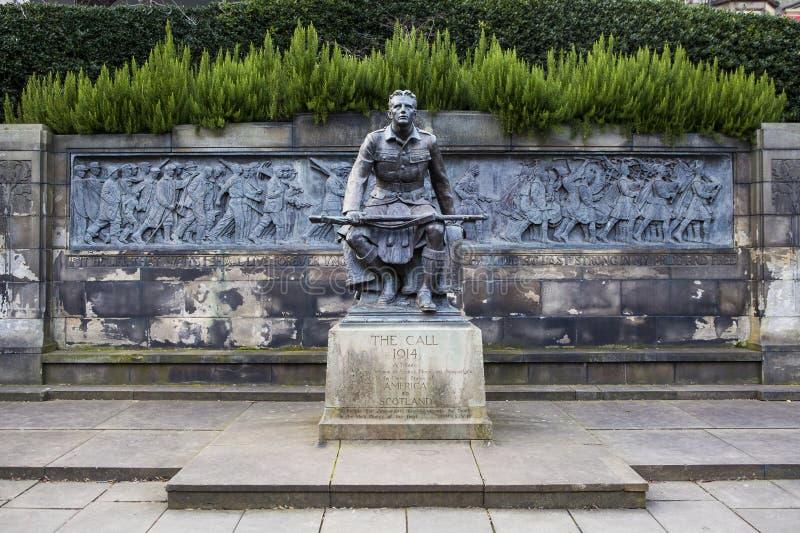 Skotsk amerikansk minnesmärke i Edinburg royaltyfri fotografi