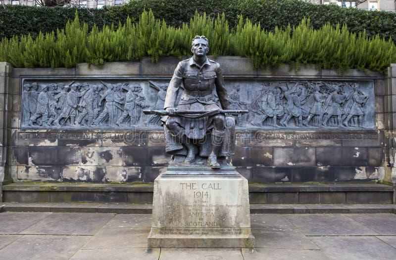 Skotsk amerikansk minnesmärke i Edinburg arkivfoton