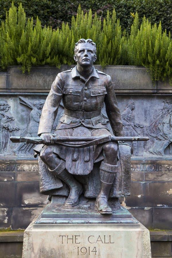 Skotsk amerikansk minnesmärke i Edinburg arkivfoto