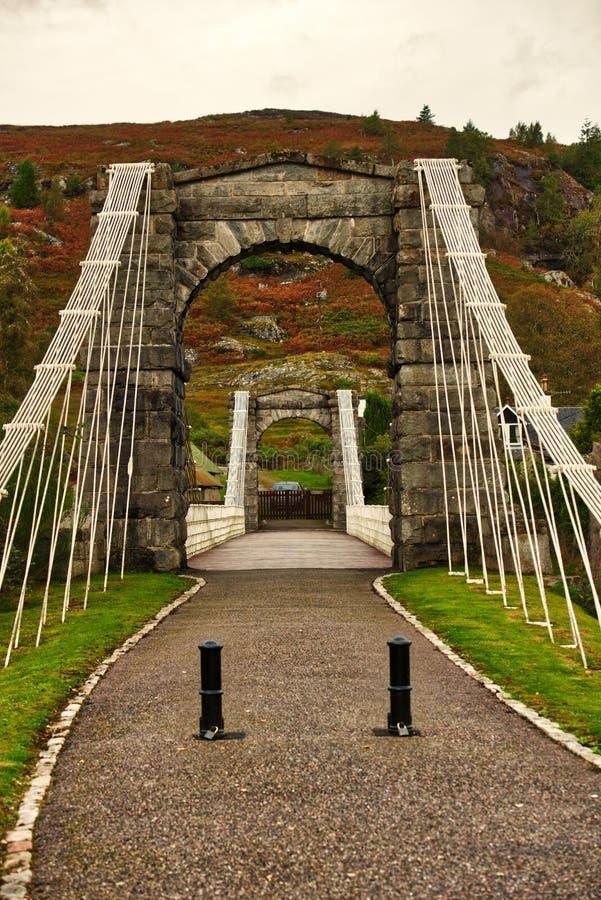 Skotsk kanalbro royaltyfri fotografi