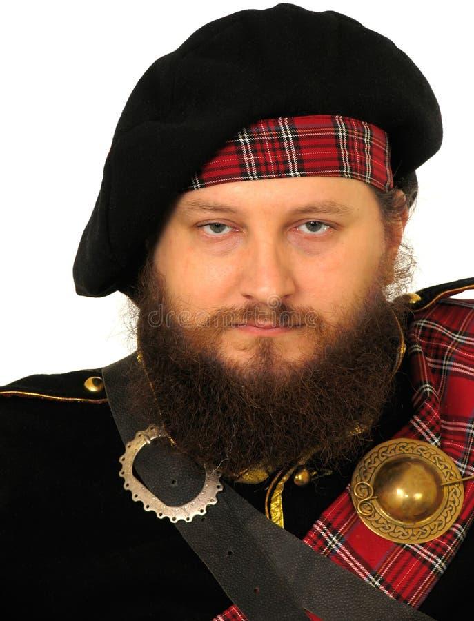 skotsk krigare royaltyfria foton