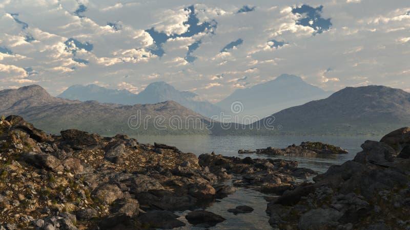 skotsk kust för fjord royaltyfri illustrationer
