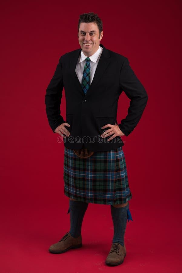 Skotsk man royaltyfria foton