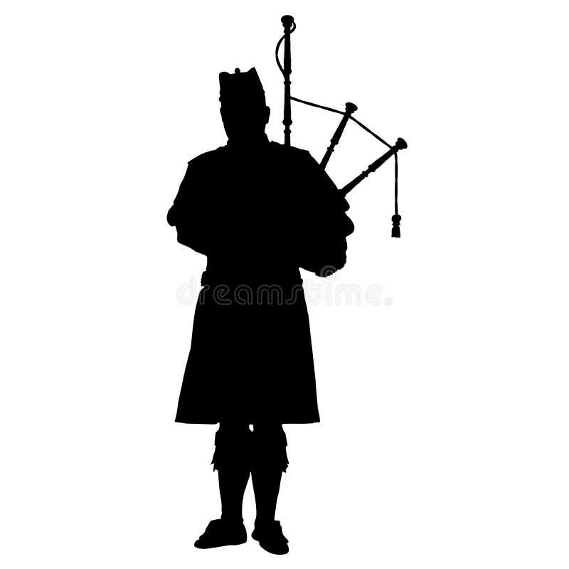 Skotsk pipblåsare royaltyfri illustrationer