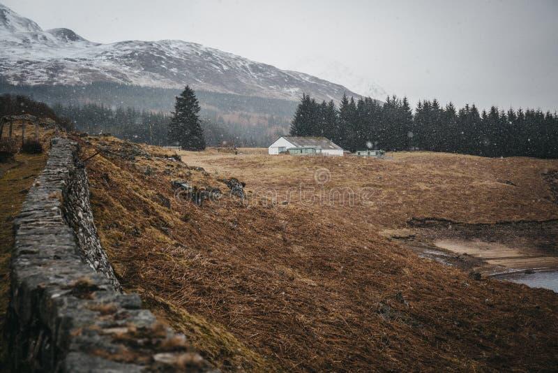 Skotsk Skotska högländerna nära Fort William, Skottland arkivfoton