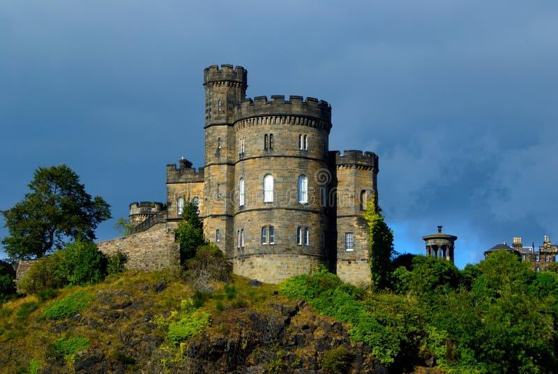 skotsk storm för slott fotografering för bildbyråer