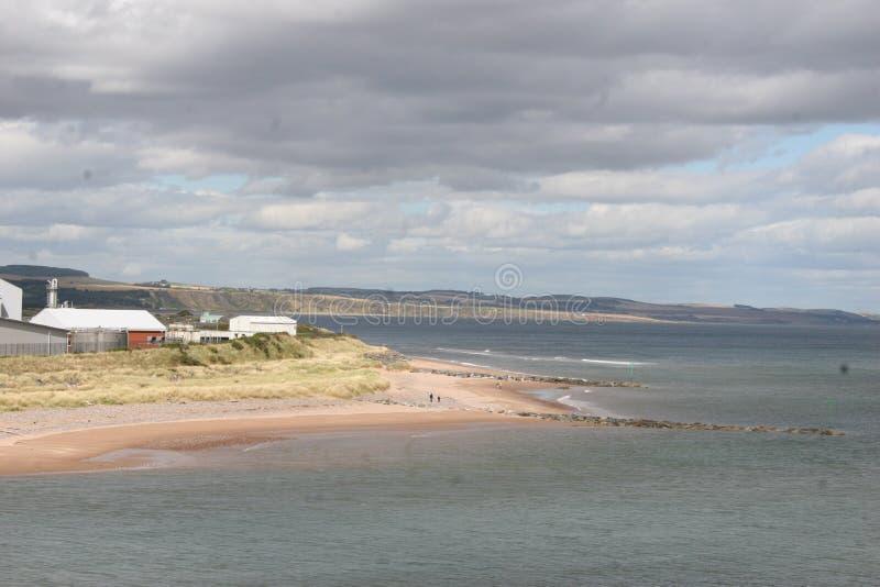 Skotsk strand arkivfoto