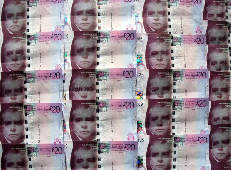 Skotska pengar. arkivfoto