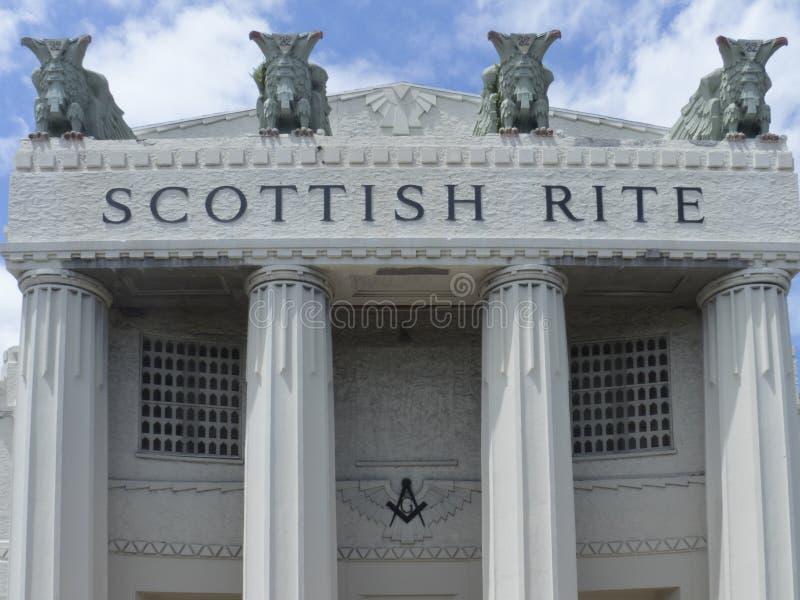 Skotska ritualhögkvarter, Miami, Florida royaltyfria foton