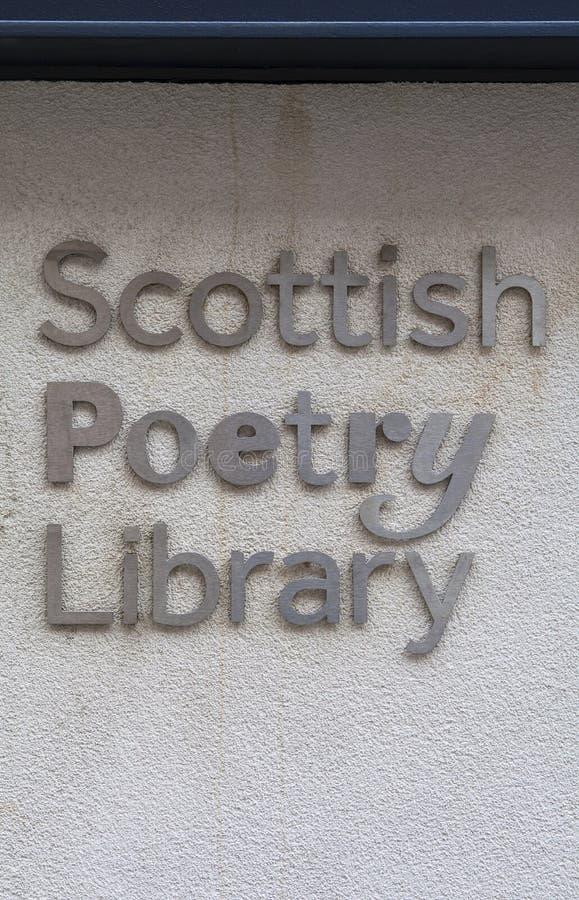 Skotskt poesiarkiv i Edinburg royaltyfri foto