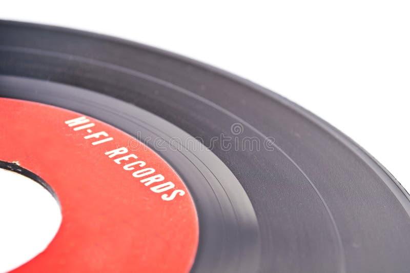 Skott för makro för tappningvinylrekord arkivbilder