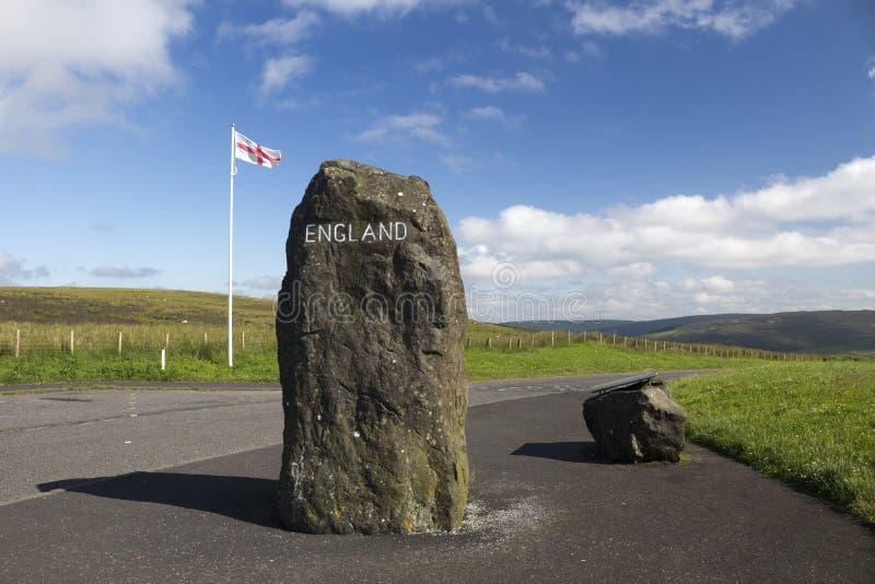 Skotte - engelskagräns, Northumberland, Förenade kungariket arkivbild