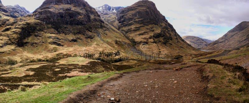 Skottland bredvid ett James Bond filmläge arkivfoto