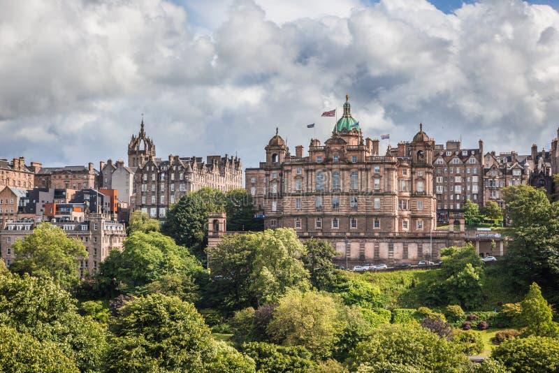 Skottland Edinburg, 2016, Juli, 02: Bank av Skottland arkivfoto