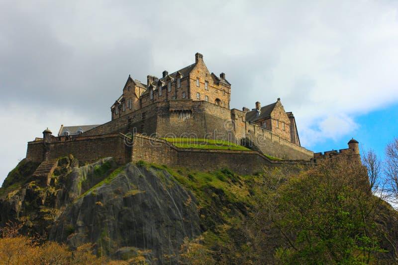 Skottland - edinburgh slott fotografering för bildbyråer