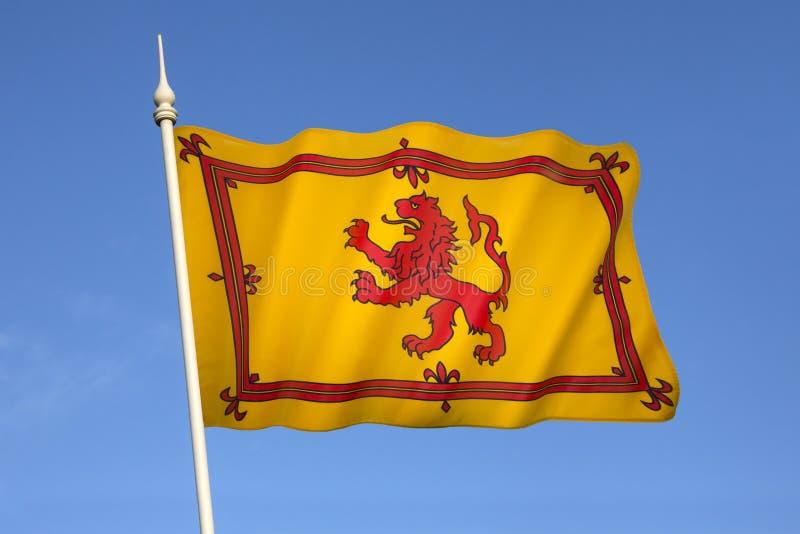 Skottland - Lion Rampant Flag - skotsk kunglig normal fotografering för bildbyråer