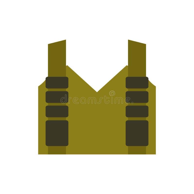 skottsäker isolerad vest Skyddande enhetlig militär Polisen c vektor illustrationer