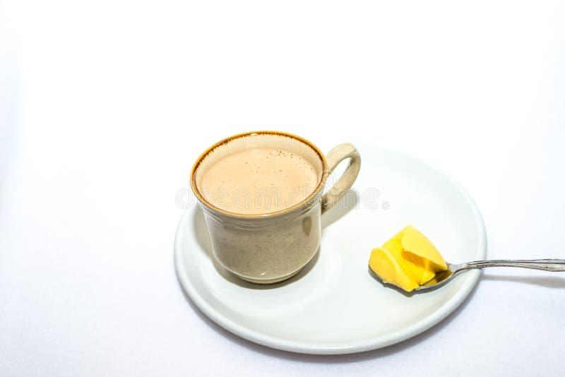 Skottsäkert kaffe för Keto arkivfoton