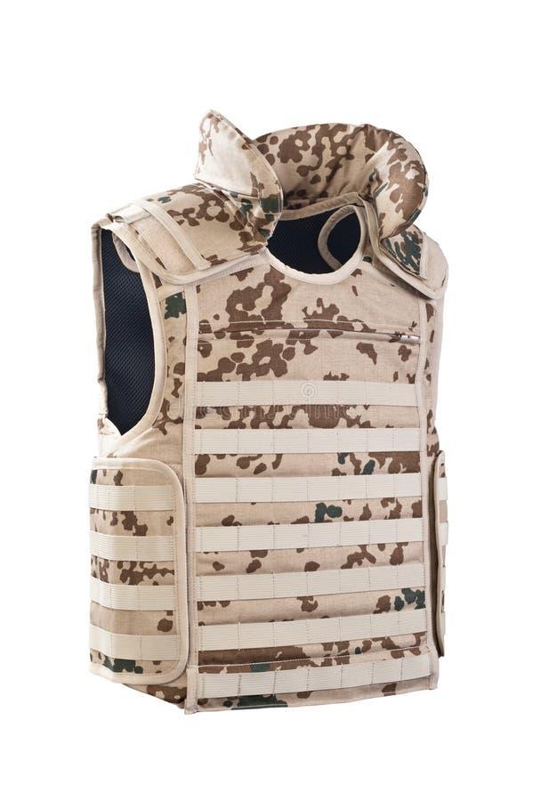 skottsäker kamouflagevest royaltyfri bild