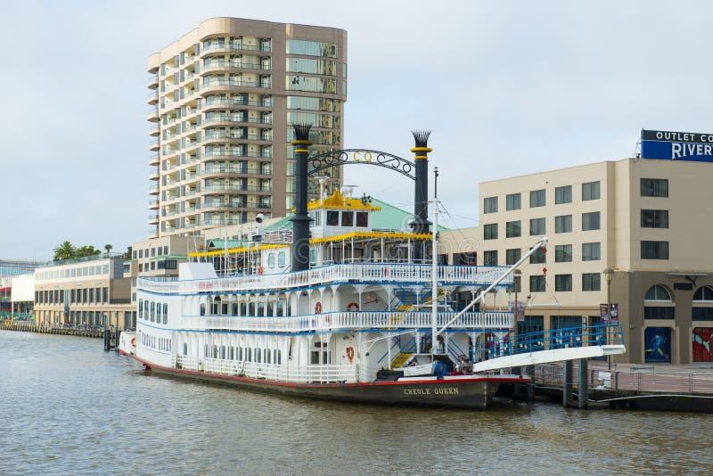Skovel Wheeler Creole Queen i New Orleans royaltyfria bilder