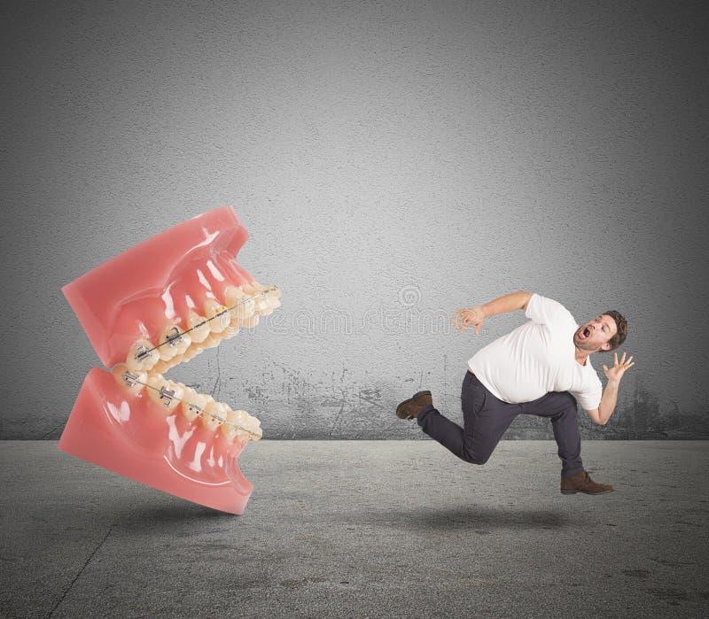 Skräck av tandläkaren arkivfoton