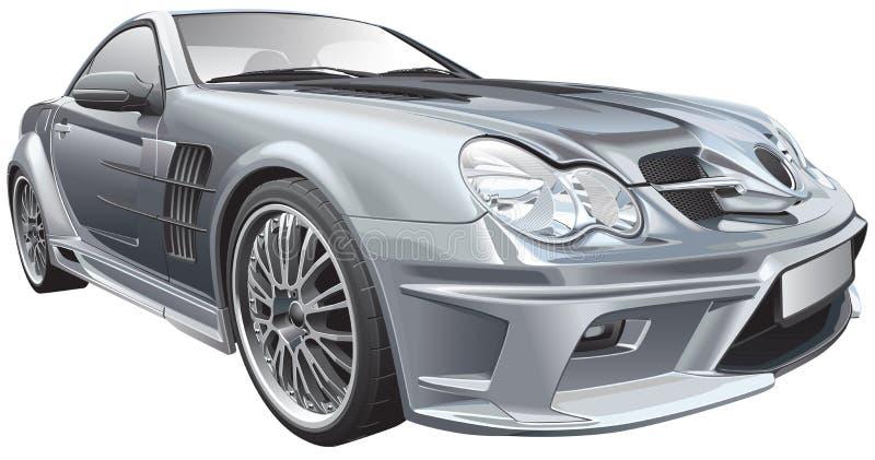 Skräddarsy kompakt roadster stock illustrationer