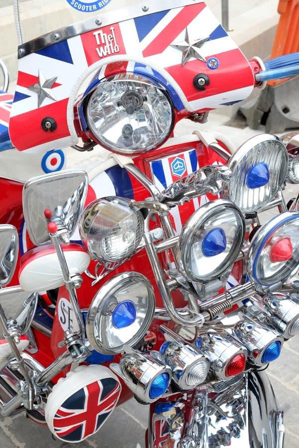 Skräddarsy sparkcykeldetalj arkivbild
