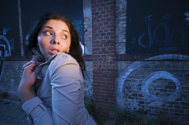 Skrämsel i natten fotografering för bildbyråer