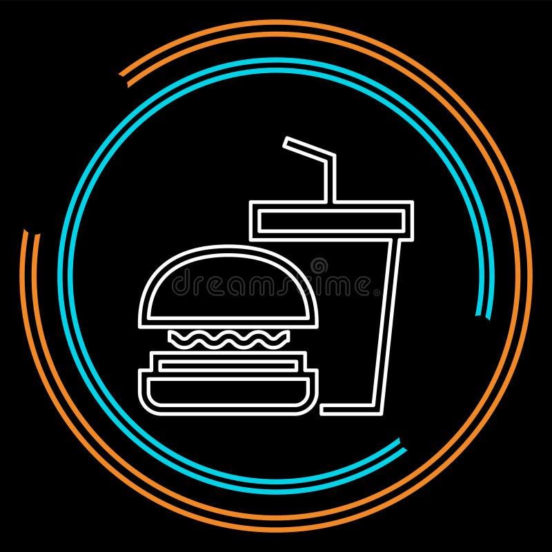 Skräpmatsymbol - snabbmatsymbol - hamburgare vektor illustrationer
