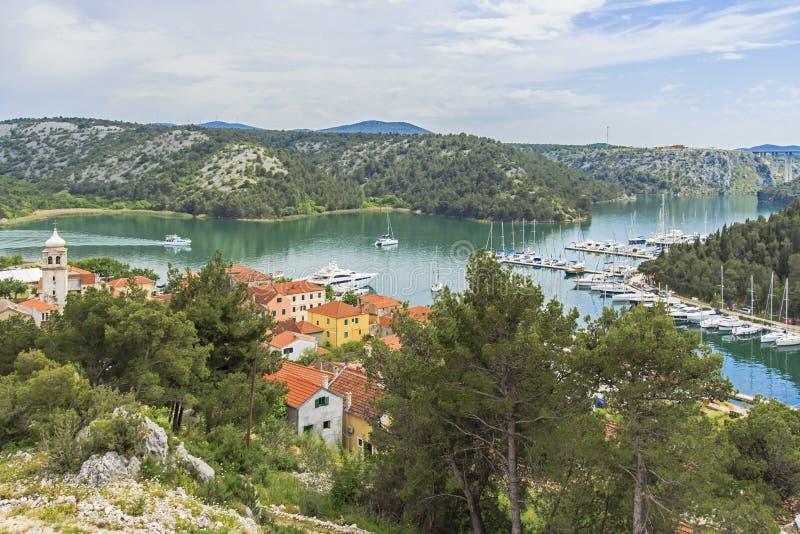 Skradin, Dalmacia, Croacia. imágenes de archivo libres de regalías