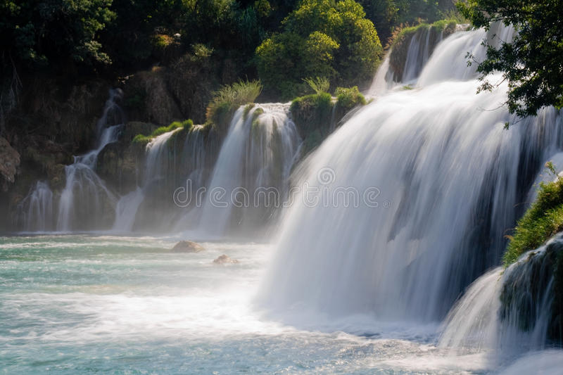 Skradinski Buk. Waterfall in Krka National Park, Croatia royalty free stock image