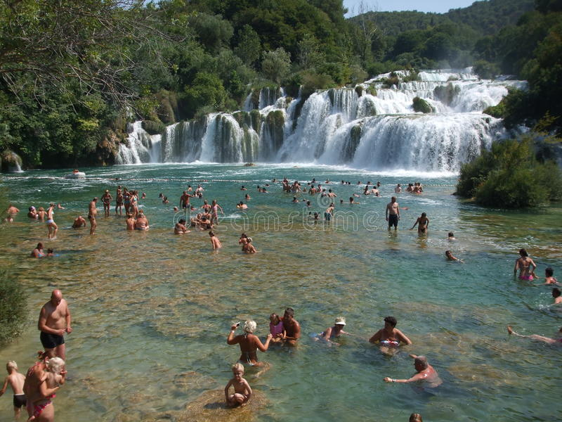 Skradinski Buk, KRKA Waterfall stock photography