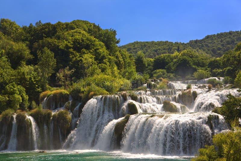 Skradinski Buk waterfall. Croatia. Krka National Park. Skradinski Buk waterfall stock image