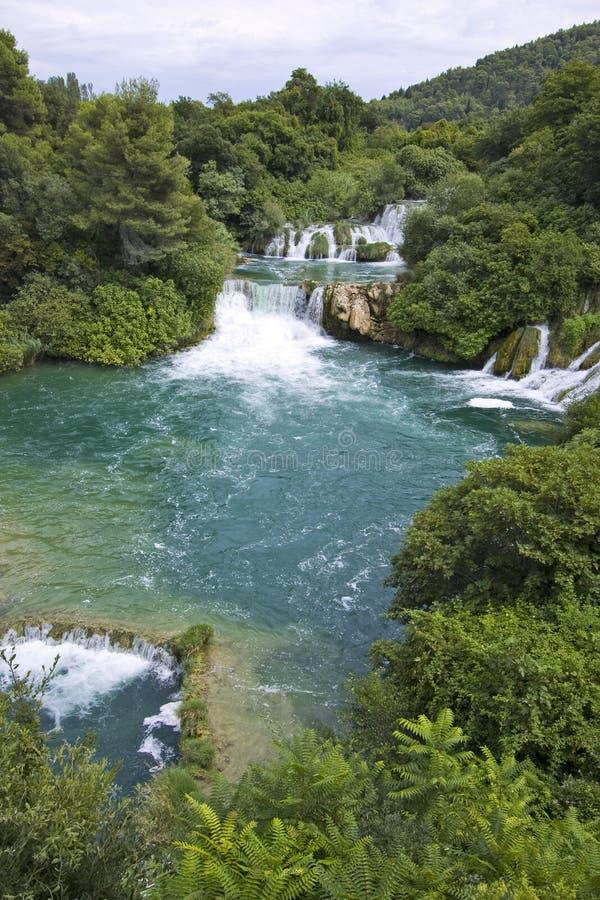 Skradinski Buk - weltberühmter Wasserfall lizenzfreie stockfotos