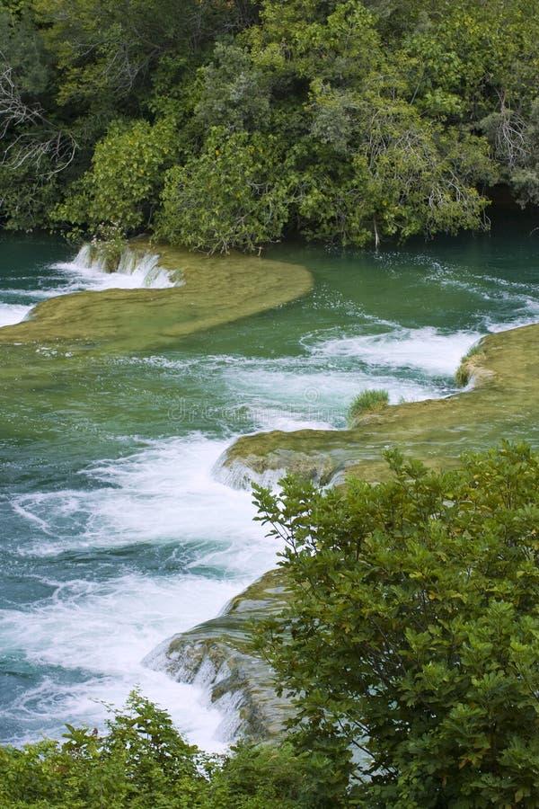 Skradinski Buk - weltberühmter Wasserfall stockfotos