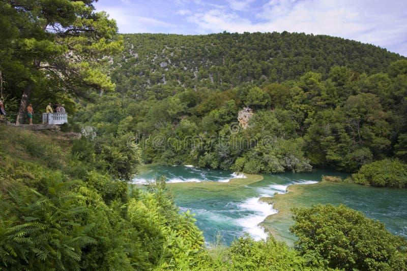 Skradinski Buk - weltberühmter Wasserfall lizenzfreies stockbild