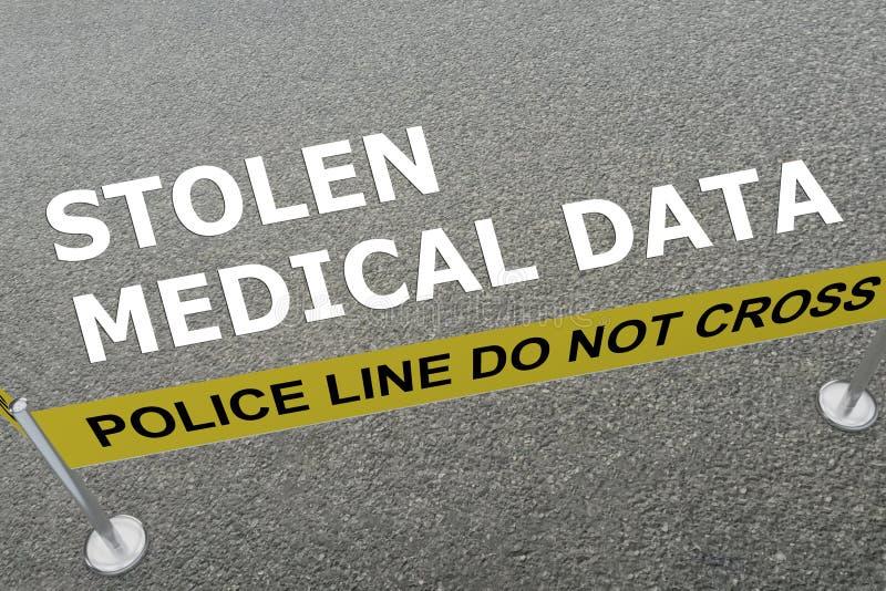 Skradziony Medyczny dane pojęcie ilustracji