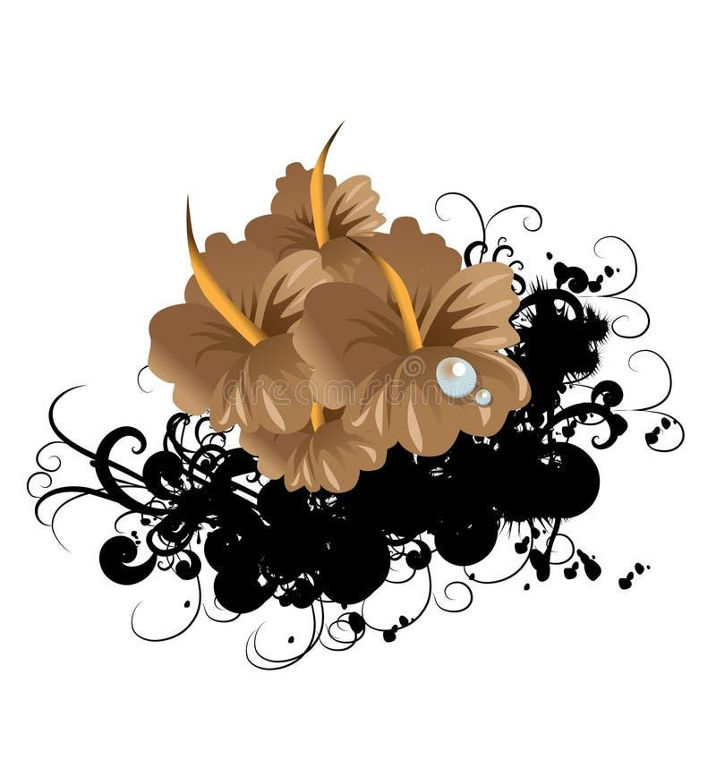 Skraj abstrakt blomma vektor illustrationer