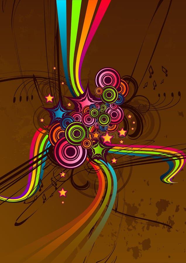 skraj abstrakt choklad stock illustrationer